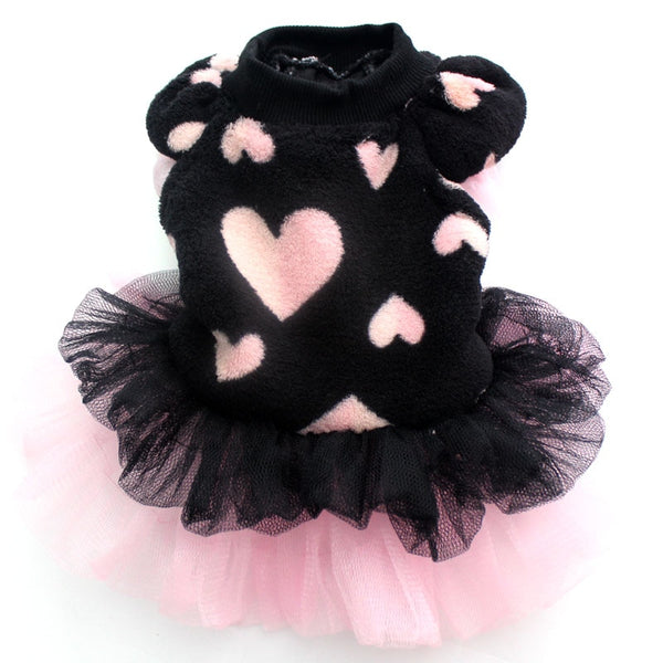 Pet dog Coral velvet Tutu dress Cat Puppy Princess Skirt clothes Flowers&Lace design 5 sizes