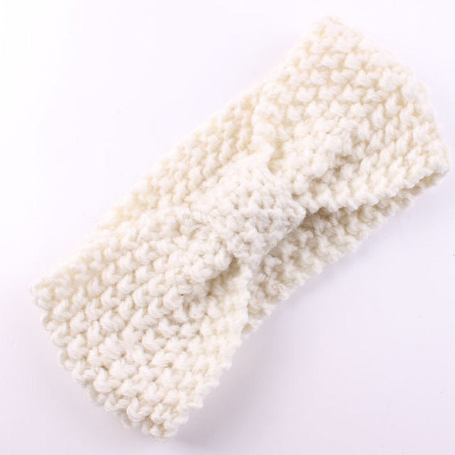 Newborn Knit Crochet Top Knot Elastic Turban Headband Kids Girls Head wrap Hair Bands Ears Warmer Headband Accessories
