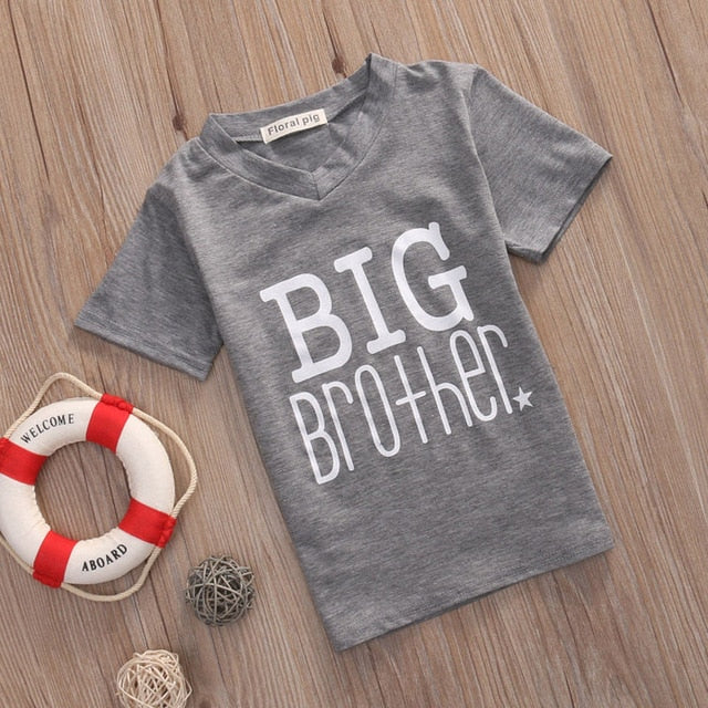 a47b90f6 Little Brother Baby Boy Romper and Big Brother T-shirt Family Matching |  JOHNKART.COM. }