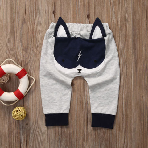 Casual Toddler Bottoms Pants Hot Infant Cartoon Harem Pants Baby Boy Animal Trousers