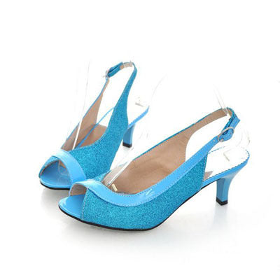 New Heel Summer Shoes Woman Open Toe Sandals Shoes Woman High-heeled Shoes Sandals High Heels Pumps Large Size 34-46