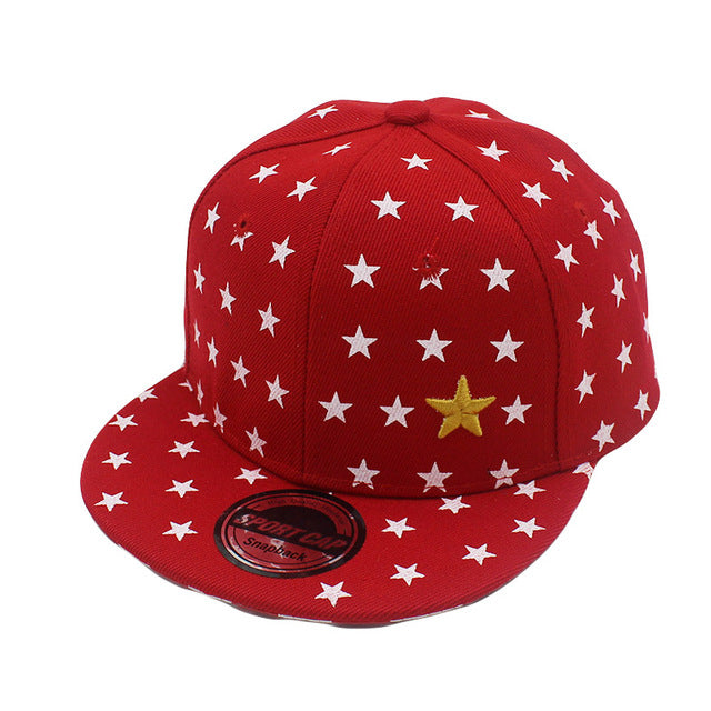3-8 Ages Children Boys Girls Baseball Cap Acrylic Snapback Caps Five-pointed Star Design Hat C15