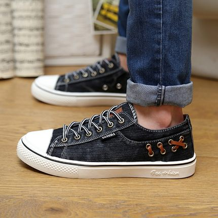 New Men Shoes Korean High-top Laces Men Canvas Shose Fashion Spring/Summer Breathable Men Casual Shoes Flats Zapatos Hombre