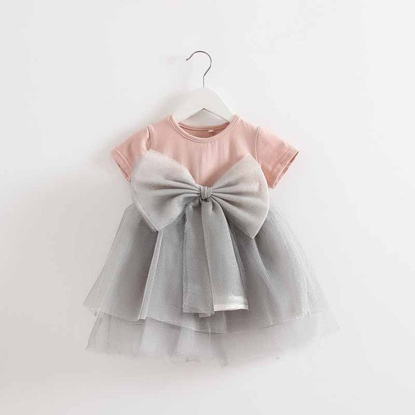 Baby short-Sleeve dress 1-4y Girls Clothes Dress Toddler Infant Girl Party Wedding Dresses