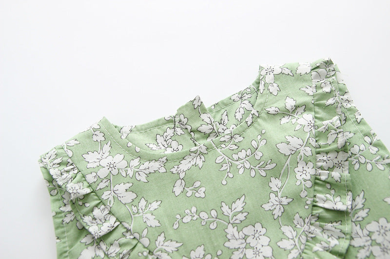 f1f61854dd68 Dresses for Girls Summer Floral Print Cotton Baby Dress 2018 Lovely ...