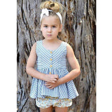 Summer Baby Girls Dresses Toddler Girls Striped Sleeveless Cotton Dress Outfit Infant Beautiful Gift Baby Daily Clothes