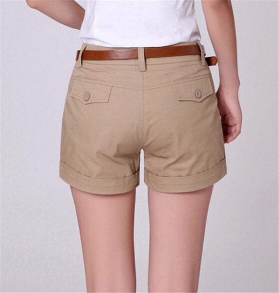 New Arrivals Summer Woman Cotton Shorts New Fashion Design Lady Solid Colour Casual Shorts PT031