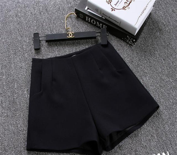 New Summer hot Fashion New Women Shorts Skirts High Waist Casual Suit Shorts Black White Women Short Pants Ladies Shorts