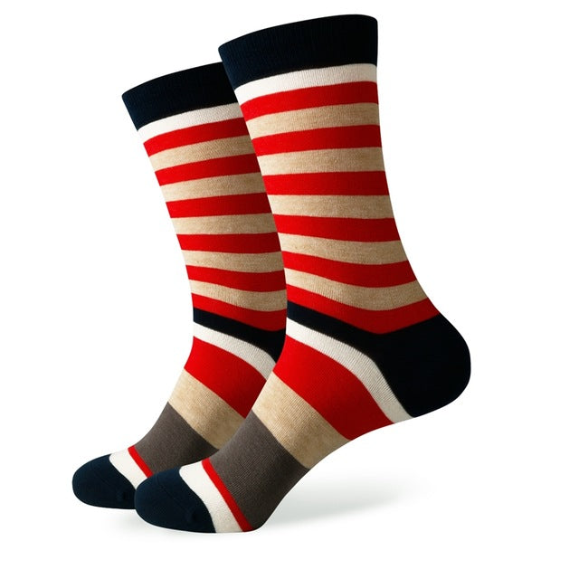 Match-Up New styles wholesale man's brand cotton socks stripe socks  free shipping