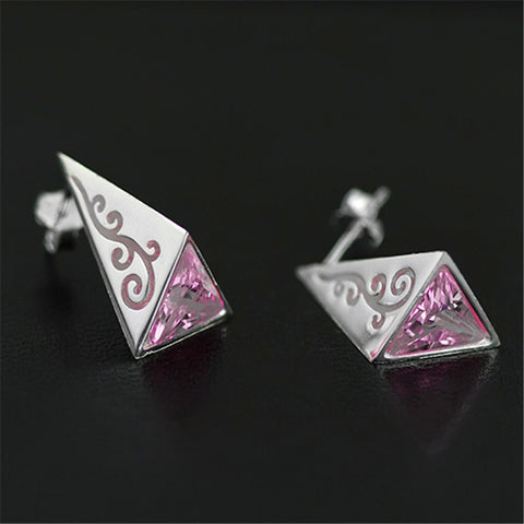 Real 925 Sterling Silver Natural Original Handmade Fine Jewelry Pyramid Fashion Stud Earrings for Women Brincos