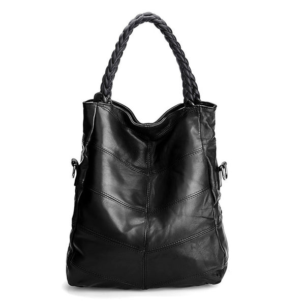 Genuine Leather Women Bag High Quality Sheepskin Shoulder Bag Ladies Casual Tote Luxury Handbags Women Bags Designer