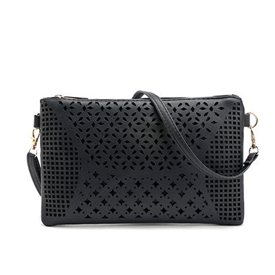 Hollow Out Clutch Bag Designer Envelope Clutch for Women Candy Color Ladies Hand bags Leather Purses and Handbags