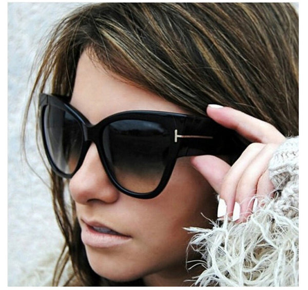 Luxury Brand Designer Women Sunglasses Oversize Acetate Cat eye Sun glasses Sexy Shades