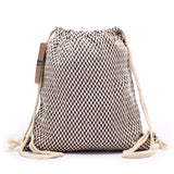 Women Backpack Bohemian Style Shoulder Bag Vintage Rucksack Gypsy Chic Hobo Bag Hippie Aztec Tribal Bag Drawstring Backpacks