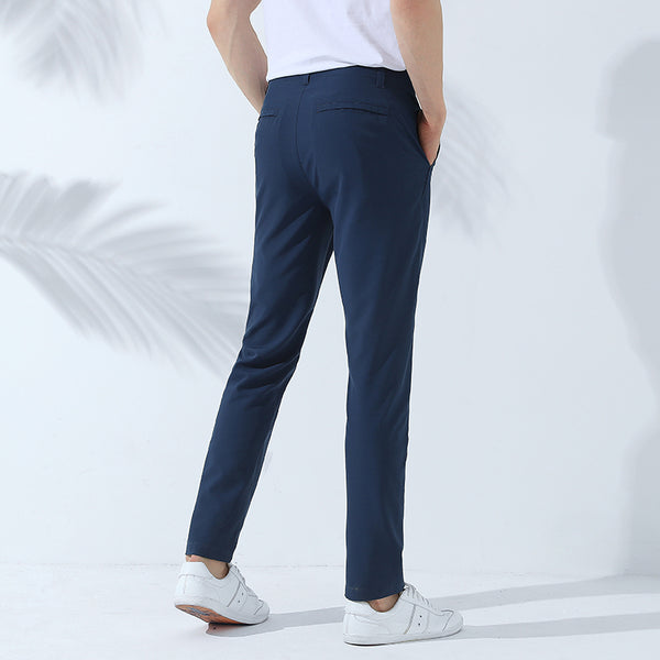 New quick-drying casual pants men brand clothing solid stretch trousers male top quality breathable AXX705040
