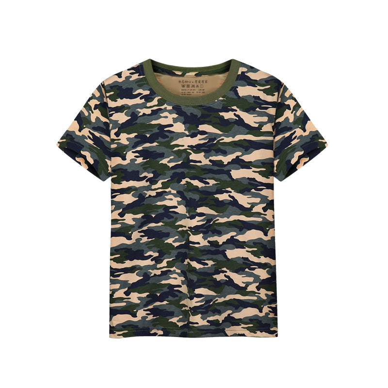 t shirts cotton t-shirts girl striped camouflage solid tops tees enfant garcon summer kids clothes short sleeve