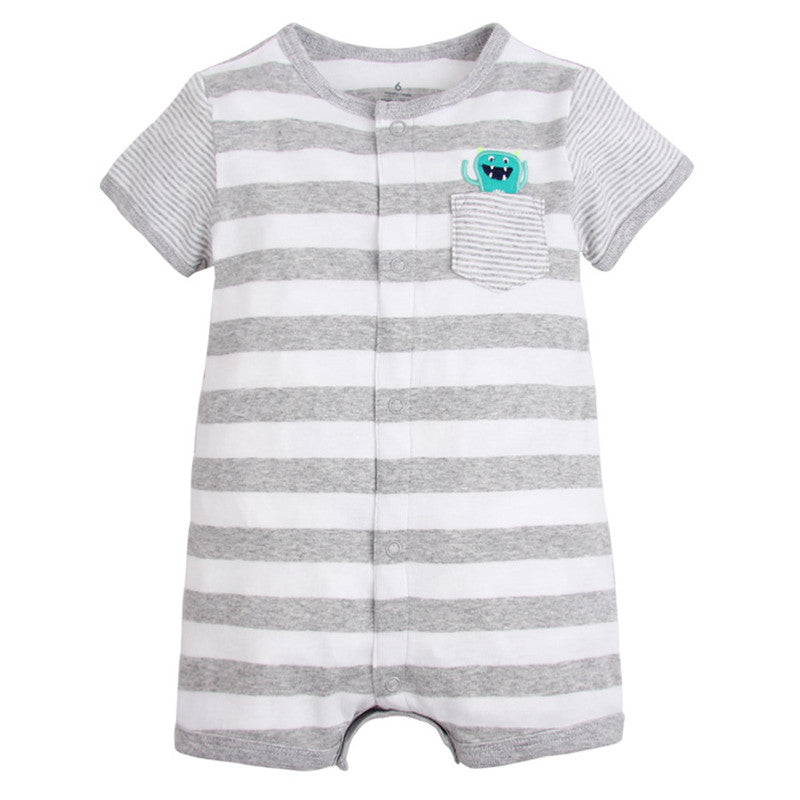b621f9937 Summer brands Newborn Baby Rompers Short Sleeve Cartoon Cotton Jumpsuits  Baby Infant Baby Clothes For Girls ...