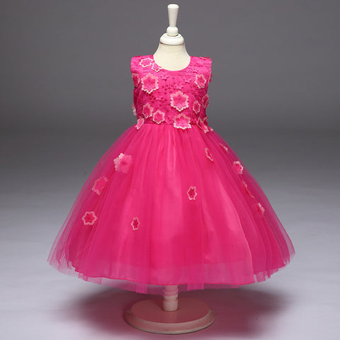 Children's Day Baby Kids Dress For Girls 2 3 4 5 6 7 8 Year Birthday Outfit Dresses Evening Party Formal Wear Floral Dress Cloth
