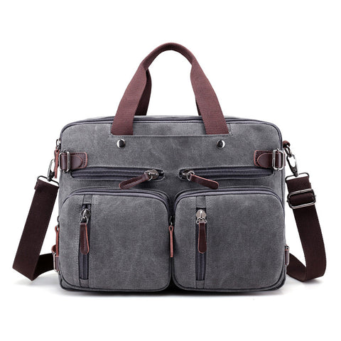 Men Quality Canvas Business Shoulder Crossbody Bags Men Messenger Bags Handbag Tote Bag Multifunction Back Pack Laptop Briefcase