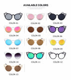 Fashion Cat Eye Sunglasses Women Brand Designer Sun Glasses For Ladies Vintage Oculos cateye Mirror Colorful-Lens Female RS167