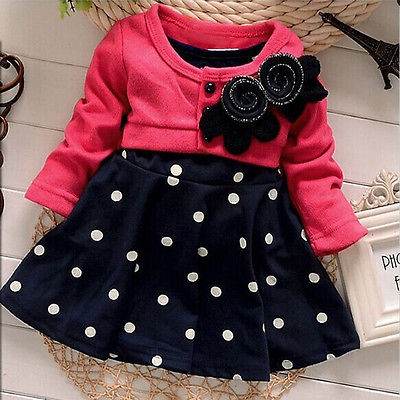 d0c499c87 Fashionable girls frock hot children clothes polka dot dress girls ...