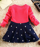 Fashionable girls frock hot children clothes polka dot dress girls baby clothing autumn kids wear child dresses