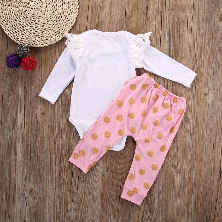 630e486e47a48 ... Toddler Infant Newborn Baby Girls Clothes Set Romper Long Sleeve Cotton  Pants Jumpsuit Bodysuit Clothing Baby ...