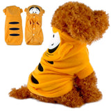 Cute Dog Tiger Hoodie Spring Pet Clothes Costumes Puppy Warm Clothing for Dogs Teddy Poddle Chihuahua S M L XL