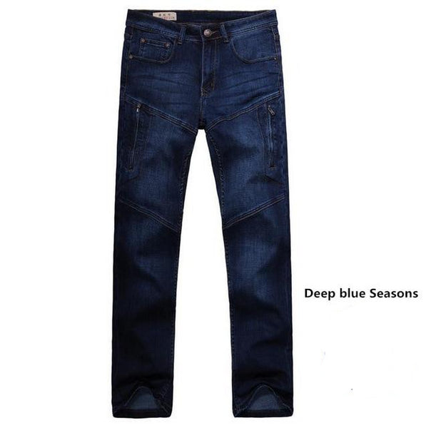 Straight Jeans  Man Jeans New Seasons overall Loose CARGO PANTS Elasticity Mens Long Trousers Plus Size 28-44 Bottoms