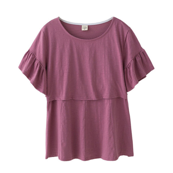 Breast Feeding Nursing Tops Maternity Clothes Pregnancy Clothing Maternity T-shirt Breastfeeding Tees Clothes For Pregnant Women