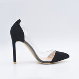 Transparent 11cm High Heels Sexy Pointed Toe Slip-on Wedding Dress Shoes For Lady Size 41 42 Leopard