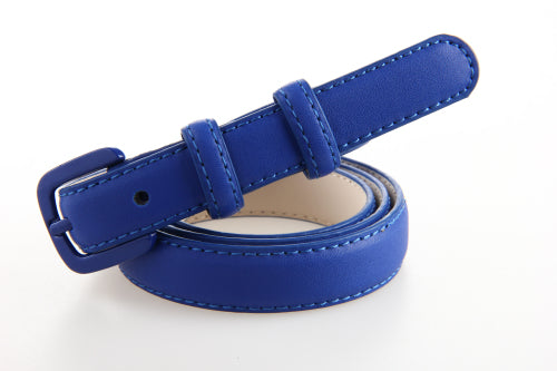 New Fashion Women Genuine Leather Belt Straps Skinny Leather Belts Female Ladies Jeans Pants Belt Casual Straps Black Blue White