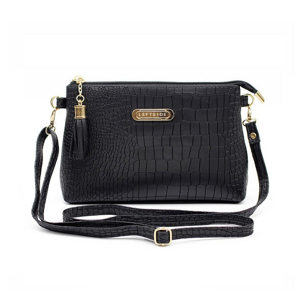 women famous brand fashion tassel Small Handbags Hot sale crocodile women leather messenger bags Shoulder mini bag Crossbody bag
