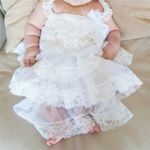 467adf19e Baby Girls Clothes Flower Girls Lace Dress Newborn Baptism Dress ...