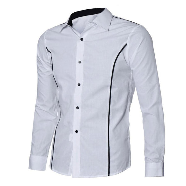Luxury Mens Shirts Fashion Slim Fit Stylish Shirts Casual Long Sleeve Tops New #LYW
