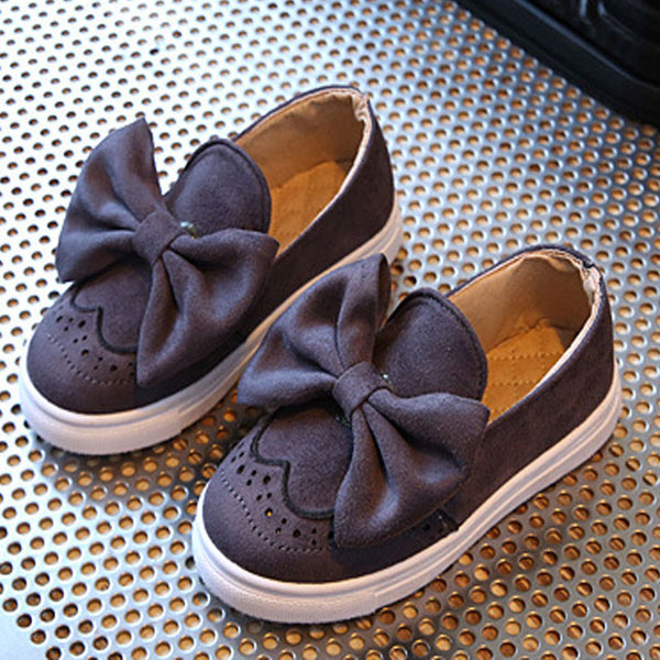 Big Bow Kids Shoes Girls Spring Loafers Fashion Suede Children Casual Shoes for Girl Princess Comfortable Child Shoes CSH323