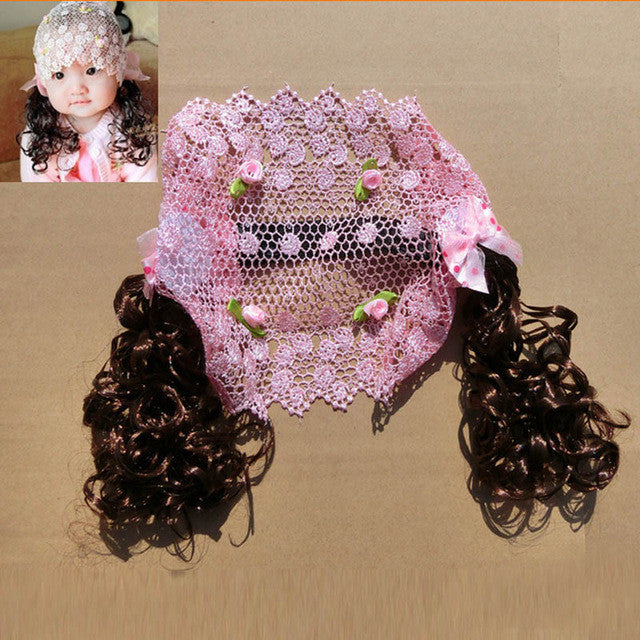Hair Accessories Cute  Girls Powder Bangs Headband Photography Flower Lace Hollow Headbands  Shipping