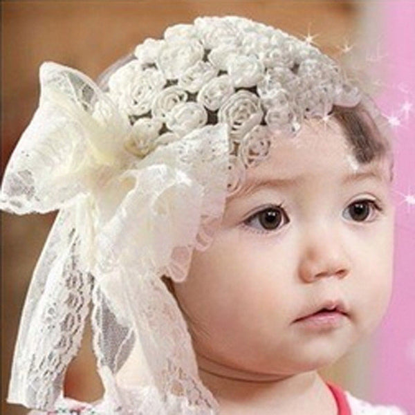Hair Accessories Cute  Girls Powder Bangs Headband Photography Flower Lace Hollow Headbands  Shipping #LSN