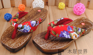 New Fashion Retro style clogs fashion wooden flip flops slippers Women's clogs slippers h185