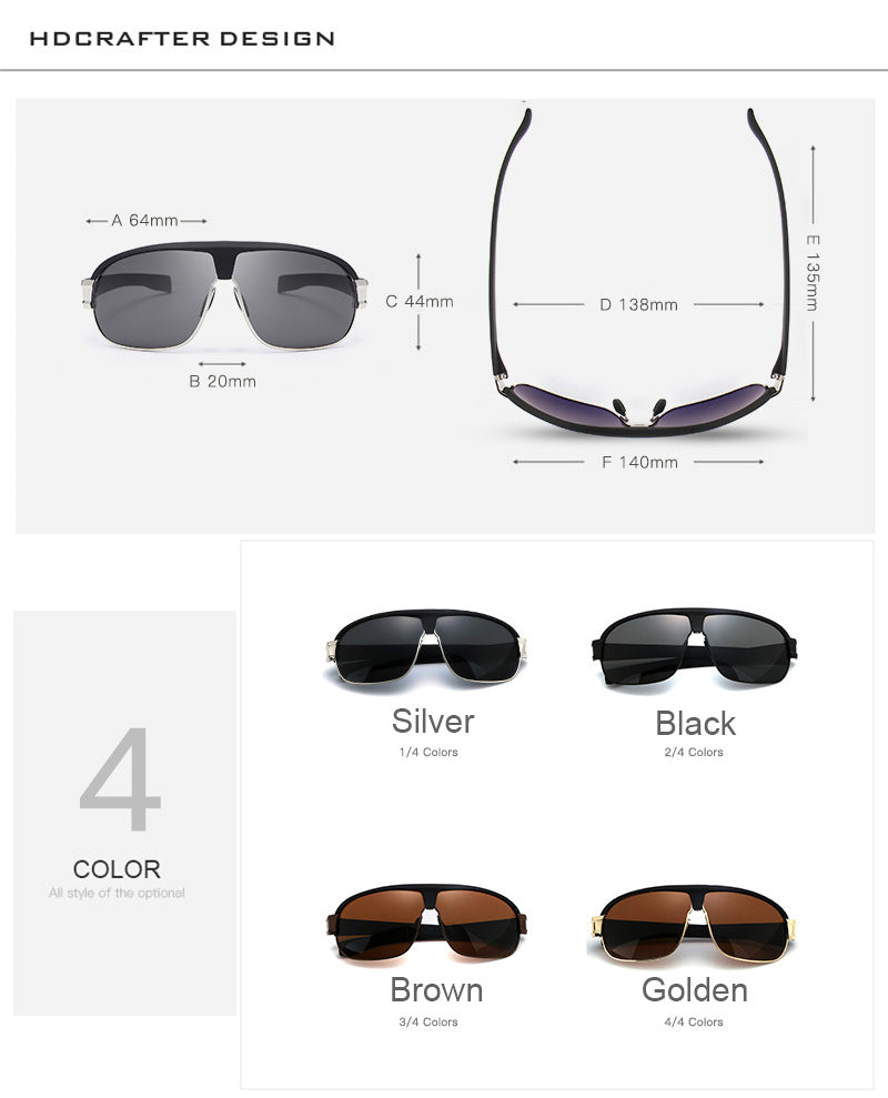 Hot Selling Fashion Polarized Sunglasses for Men Outdoor Driving HD Sun glasses Brand Designer Male High Quality 4 Colors