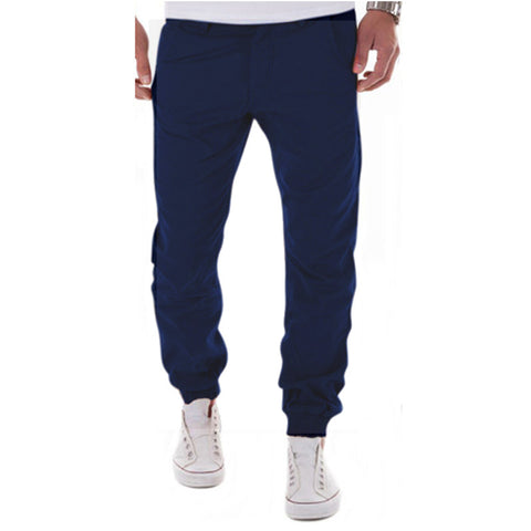 New Casual Men Pants Slim Pant Straight Trousers Fashion Solid Khaki Black Pants Men Small Foot Trousers Plus Size 3XL