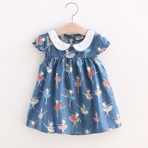 Infant Girls Dress Full Print girl butterfly clothes Toddler Princess Dress Girls Summer Clothing Cotton clothes