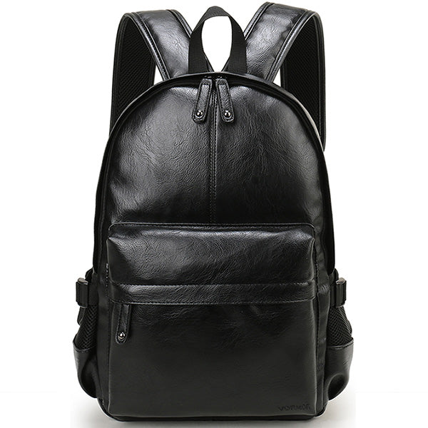 Brand Preppy Style Leather School Backpack Bag For College Simple Design Men Casual Daypacks mochila male New