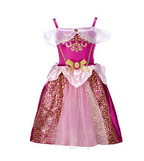 New Christmas Gift baby girls Dress Cinderella Cosplay Costume Party Dress Princess Dress Cinderella Costume