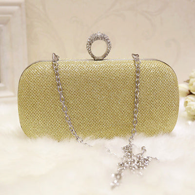 Silver Golden Crystal Evening Clutch Bag Women Luxury Brand Bags Wedding Diamond Handbags Bridal Metal Clutches Bag