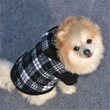 High Quality Black white Grid Pet Dog Sweater Dog Hoodies Autumn Winter Dog Clothes Sweatshirt Hoodie Jacket Hooded