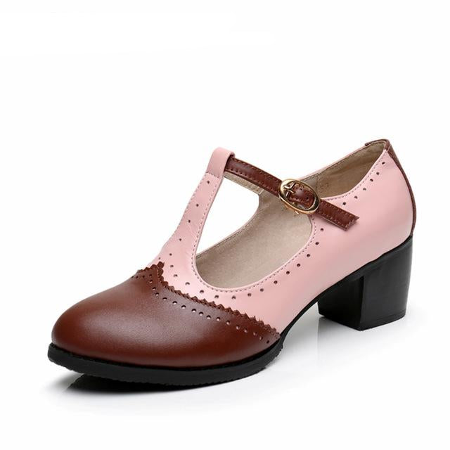 women summer leather oxford sandals big woman US 9 oxford shoes round toe handmade pink white black oxfords shoes for women