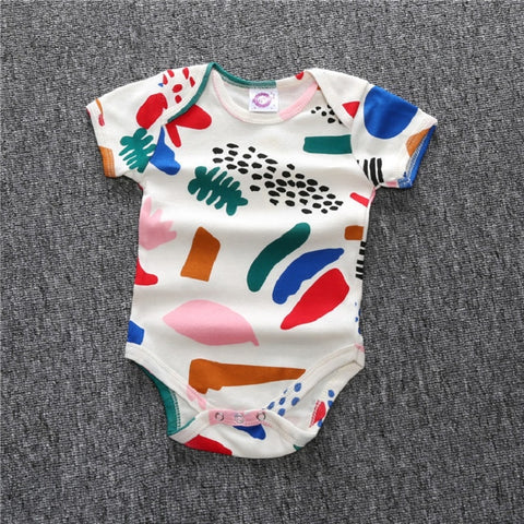 Body Matisse/watermelon Romper Baby Boys Girls Printed Summer Triangle Romper Short Sleeved One-Piece Jumpsuit
