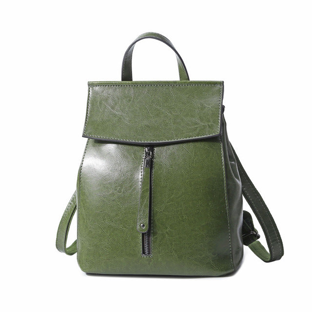 Genuine Leather Backpack Vintage Cow Split Leather Women Backpack Ladies Shoulder Bag School Bag for Teenage Girl