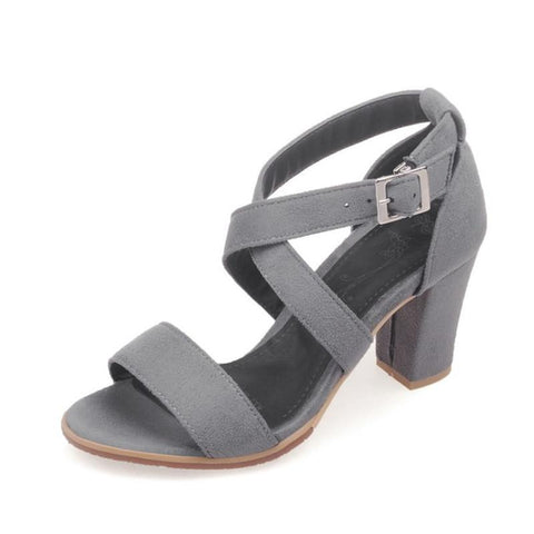 black open toe sandals women summer sexy high-heeled pumps shoes sandals female wide heel strap sandals
